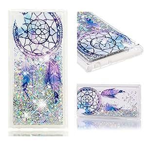 Funda Sony Xperia L1 Carcasa Purpurina, Lyzwn Sony Xperia L1 Carcasa TPU Caso Estuche 3D Creativa Diseño Lujo Moda Cristal Bling Ultra Delgado Suave ...