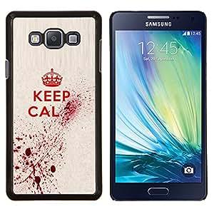LECELL--Funda protectora / Cubierta / Piel For Samsung Galaxy A7 A7000 -- Mantenga Arte Sangre Real Cita Red King Queen --