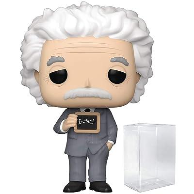 Funko Pop Icons: History - Albert Einstein Vinyl Figure (Includes Compatible Pop Box Protector Case): Toys & Games