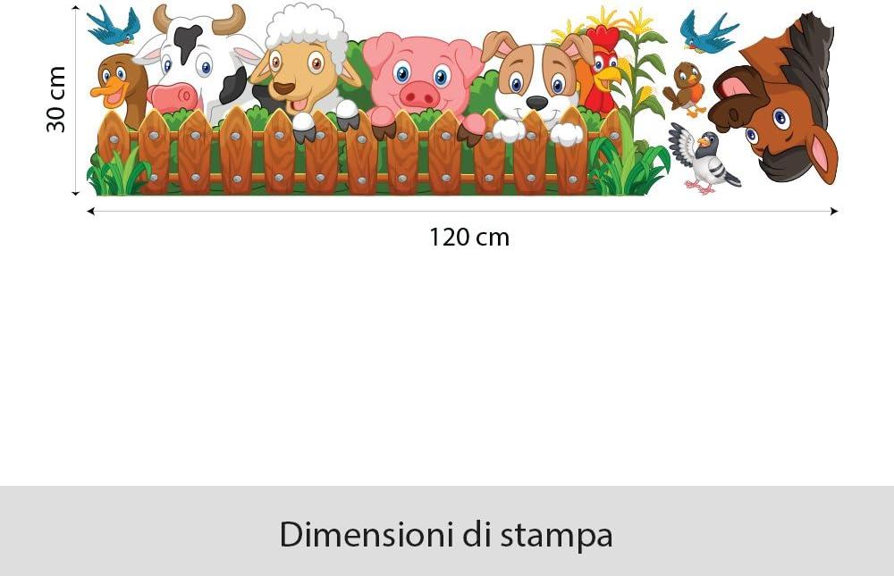 kina R00377 Stickers muraux pour Enfants imprim/é sur papiers Peints Ferme t/ête de lit