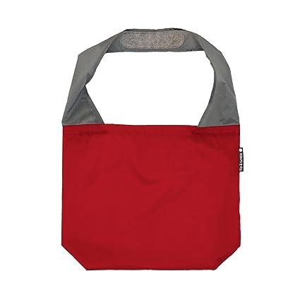 cbd93aad4659 FLIP AND TUMBLE – Premium Reusable Grocery Bag - perfect Shopping Bag,  Beach Bag, Travel Bag, Red