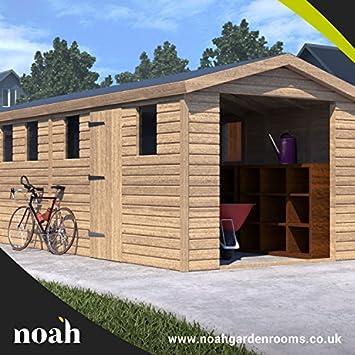 Noah - Cama de jardín de 30 x 10 cm, para garaje, cobertizo de madera, taller, garaje: Amazon.es: Jardín