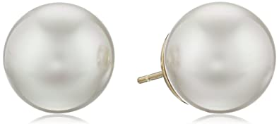 freshwater extra studs grey pearls white large stud pin or pearl earrings