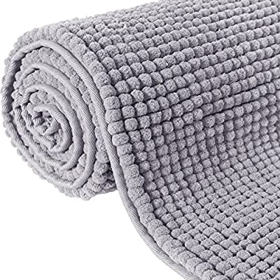 """Lifewit 70.9"""" x 25.6"""" Bath Runner Rug Area Chenille Mat Rugs Bathroom Living Room Kitchen Machine Washable Shag Rug Grey - Size: 2.13 x 6 (feet), 25.6 x 70.9 x 0.8 (inch), 65 x 180 x 2 (cm). Please measure the space your want to place the rug and compare the actual size of the item before purchasing to reduce the possibility of buying the wrong size. Machine Washable: this long runner rug is easily cleaned being 100-percent chenille and machine washable. Do not blench. Durability Power-Loomed Construction: adds incomparable durability and is virtually non-shedding, after washed, do not wring dry, directly remove from water and dry naturally, do not use a dryer or super suction vacuum cleaner. - runner-rugs, entryway-furniture-decor, entryway-laundry-room - 61lN9wkbMiL. SS400  -"""
