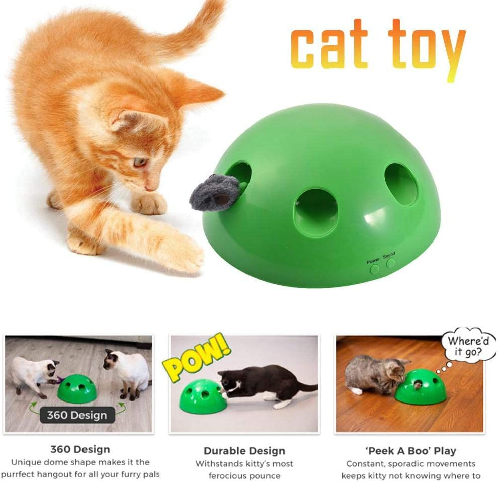 alikena wendaby Pet Toy JUEGO Cat Toy Divertido juego de carnaval para Kitty Pet Entertainment Pet Exercise Chaser Toy Juguetes interactivos para mascotas para gatos y perros wonderful very well