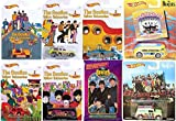 walmart gas card - Hot Wheels Beatles Exclusive Walmart 5 Car Set + 2 Pop Culture Album Cover Vehicles Magical Mystery Tour Bus / Austin Mini Sgt. Peppers / Bumper Car / Taxi Cab / Morris Mini + Trading Cards