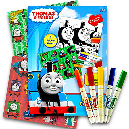 - Thomas the Train Stickers Coloring Activity Set With, Washable Markers, Sticker Sheets and Coloring Pages