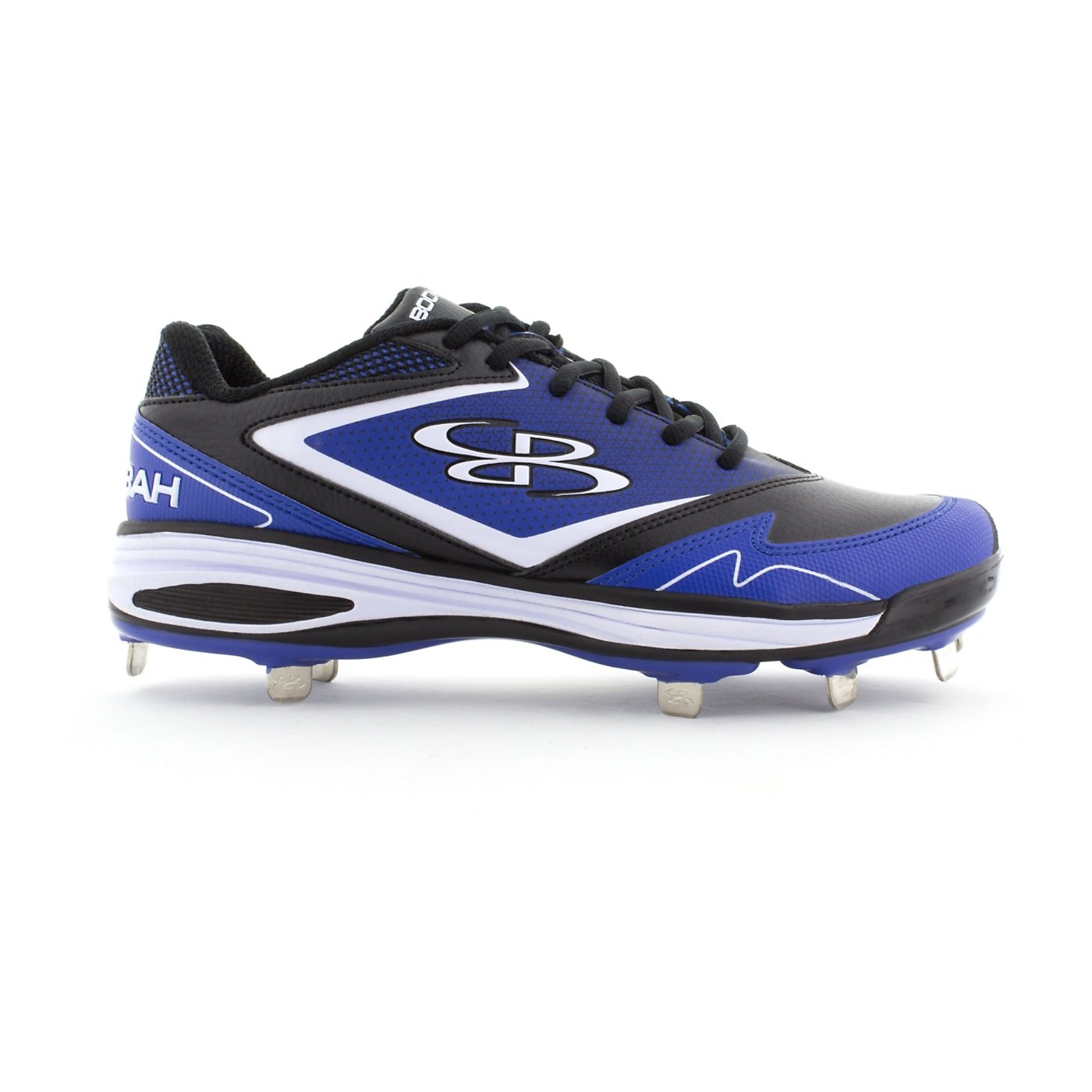 Boombah Women's A-Game Metal Cleat Black/Royal Blue - Size 10