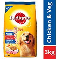 Pedigree Adult Dry Dog Food, Chicken & Vegetables – 3 kg Pack
