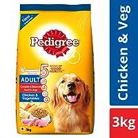 Pedigree Adult Dry Dog Food, Chicken and Vegetables, 3 kg