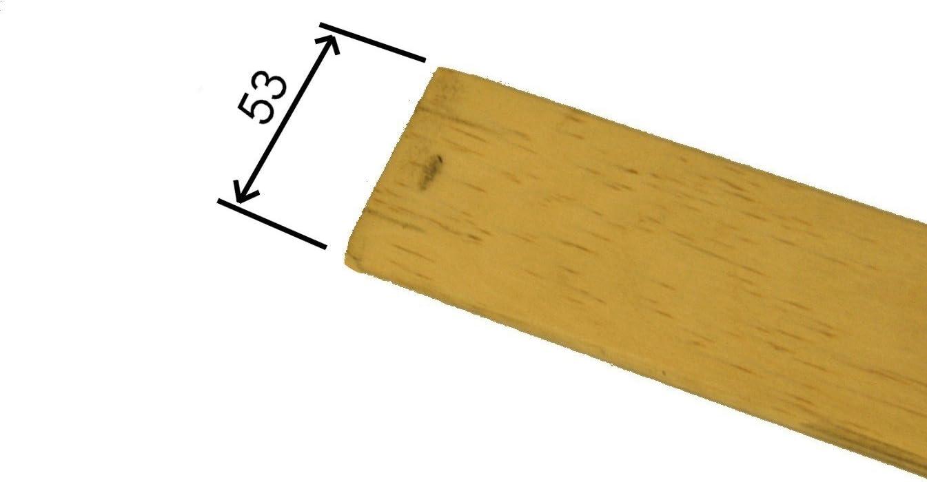 RETI GRITTI 8 Listones curvados de Madera de Abedul - Repuesto para Doga - 5,3 x 89 x 0,8 cm (Kit 8 Unidades), Color Blanco
