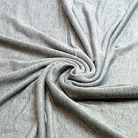 d20d547699f Plain Viscose Elastane Stretch Jersey Fabric 150 cm wide per metre (Silver  Grey): Amazon.co.uk: Kitchen & Home