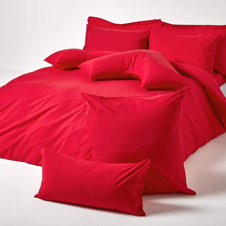 Taie d/'Oreiller Rose en Forme de V 200 Fils HOMESCAPES 100/% Coton