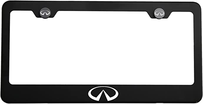 Scion Stainless Black Front License Plate /& Frame Combo Rust Free
