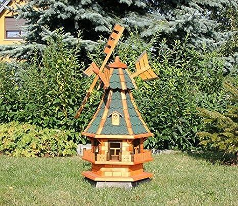 Jardín Molino de viento con solar verde tipo 4.1: Amazon.es: Jardín
