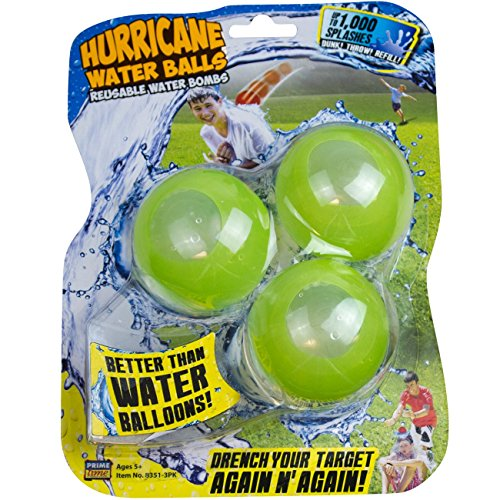 Prime Time Toys Hurricane Reusable Water Balls Toy (3-Pack/Colors May Vary)]()
