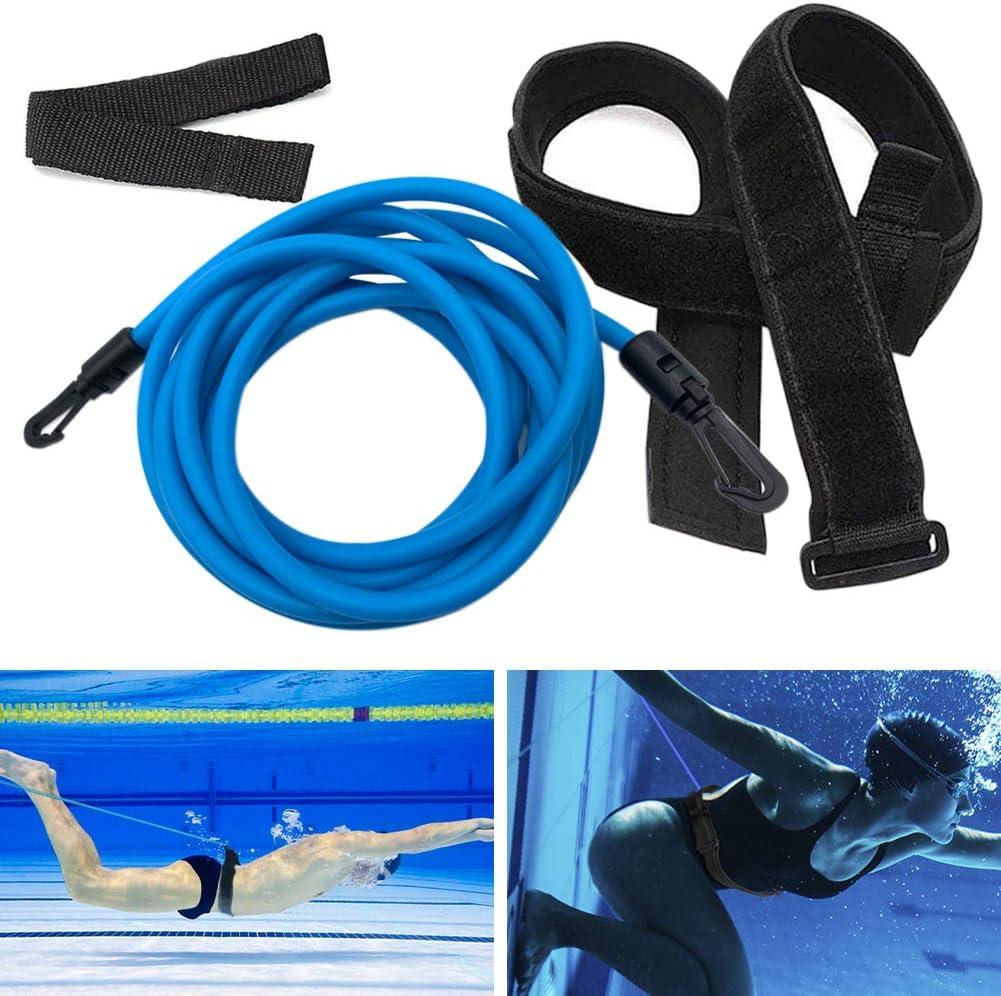 Kenoucle Swim Training Belts Swim Bungee Cords Resistance Bands Swim Tether Stationary Swimming, Swim Harness Static Swimming Belt : Sports & Outdoors