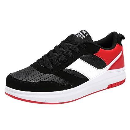 Zapatos de hombre, Manadlian de los hombres Zapatillas de deporte Moda Tobillo bajo de malla