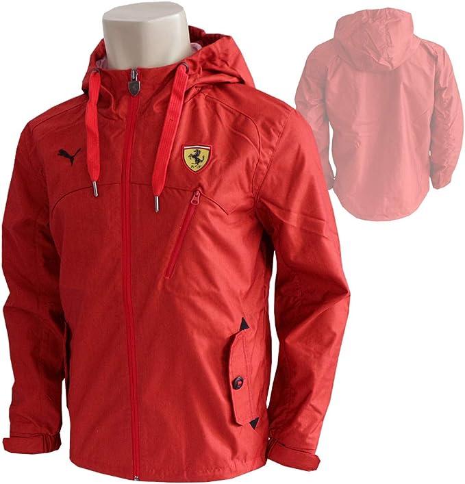 Puma Scuderia Ferrari F1 Classic Woven Jacke Rot Windbreaker Regenjacke Kapuze Rosso Corsa M Amazon De Bekleidung