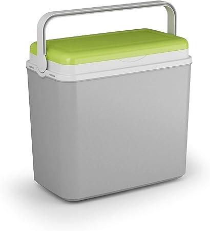 ADRIATIC Nevera grande de 24 litros para camping, playa, almuerzo, picnic, alimentos aislados + 2 paquetes de hielo (caja refrigeradora, verde y gris)