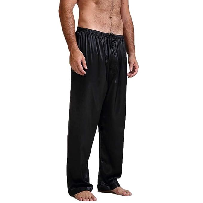 Excelente calidad mejor valor diseño exquisito Laughingcv pijamas de seda hombre 2019 Seda Satén 3XL ...