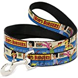 Buckle-Down ''Bob's Burgers Belcher Family Kid's Food Fight'' Dog Leash, 6'