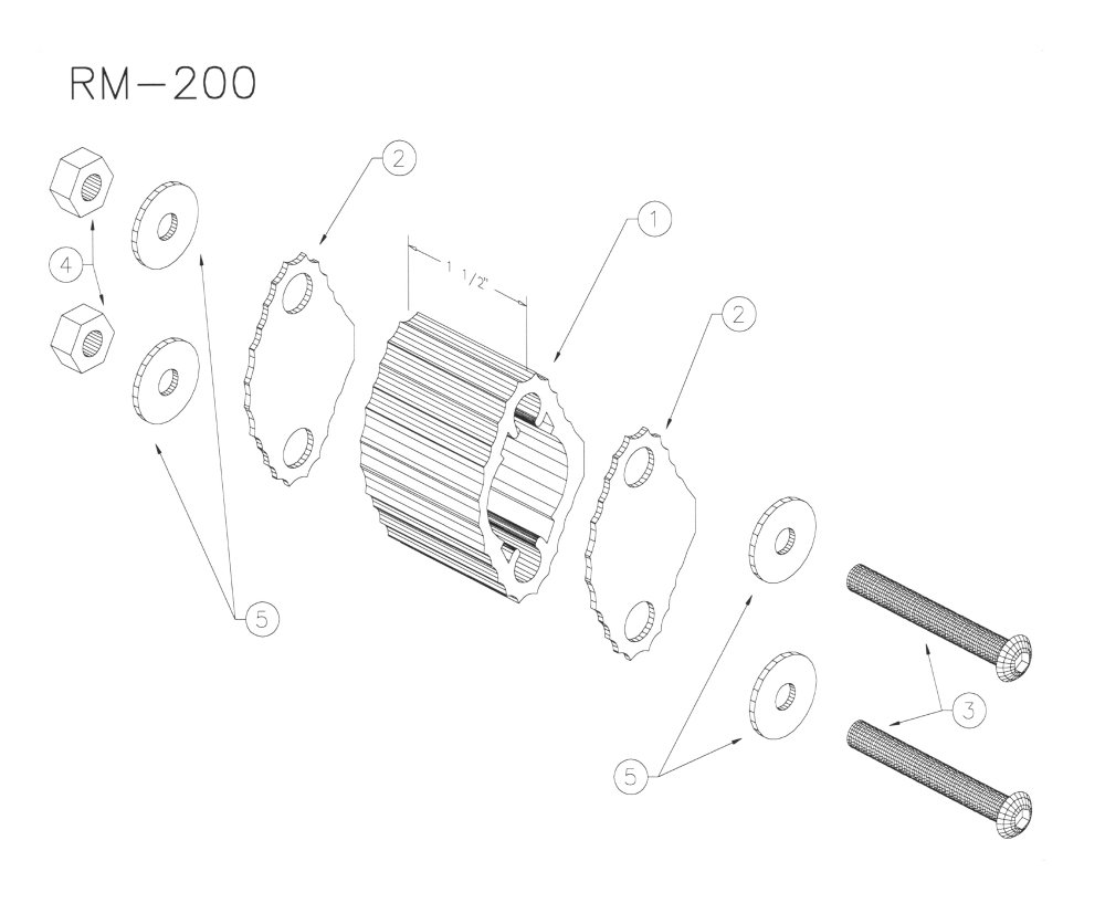 Yamaha RM200 Large Marching Quad Spacer RM-200