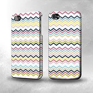 Apple iPhone 4 / 4S Case - The Best 3D Full Wrap iPhone Case - Multi Chevron Zigzag hjbrhga1544