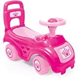 Dolu Sit and Ride On Pink Car Vehicle Toy with Storage under the seat Childrens Push Along