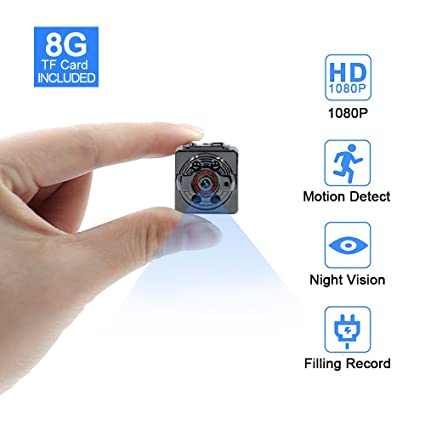 Minicámara de Tangmi, 1080p, 8 GB, cámara de vigilancia Full HD, portátil