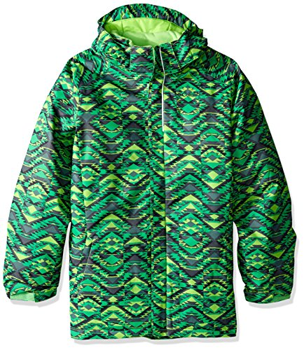 Mamba Columbia Jacket Hyper Blue Green 'twist Boy Pizzo bright Print Waterproof nSazSAxr