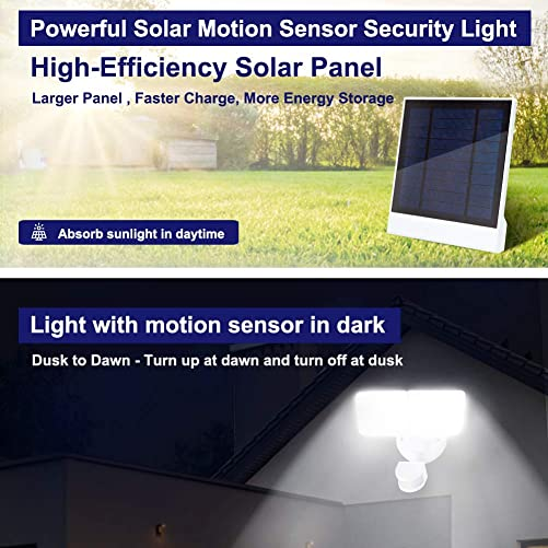 JUOYOU 20W Led Motion Sensor Flood Lights Outdoor, PIR Induction Lamp, Intelligent Light, Bright White, 6500K, IP65, 200W Bulb Equivalent, Super Bright Waterproof Security Floodlight