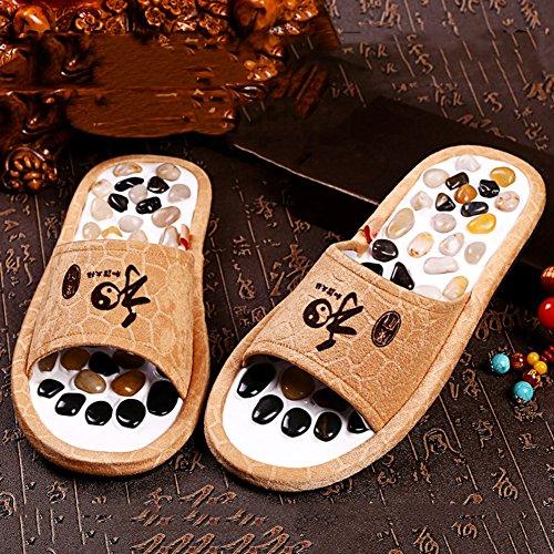de Tamaño Antideslizante Fondo suave Zapatillas Café Zapatos Zapato Adoquines Interior moda colores Mujer 43 4 Color LIXIONG Verano 44 Masaje Gris xwnTX1q0O0