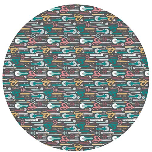(SuperJK Cozy Flannel Polyester Circle Carpet, Anti-Slip & Modern Quilter's Sewing Notions Round Rugs, Chair Floor Protector, Muti-Purpose Boys & Girls Playing Mat Kids Room Blanket)