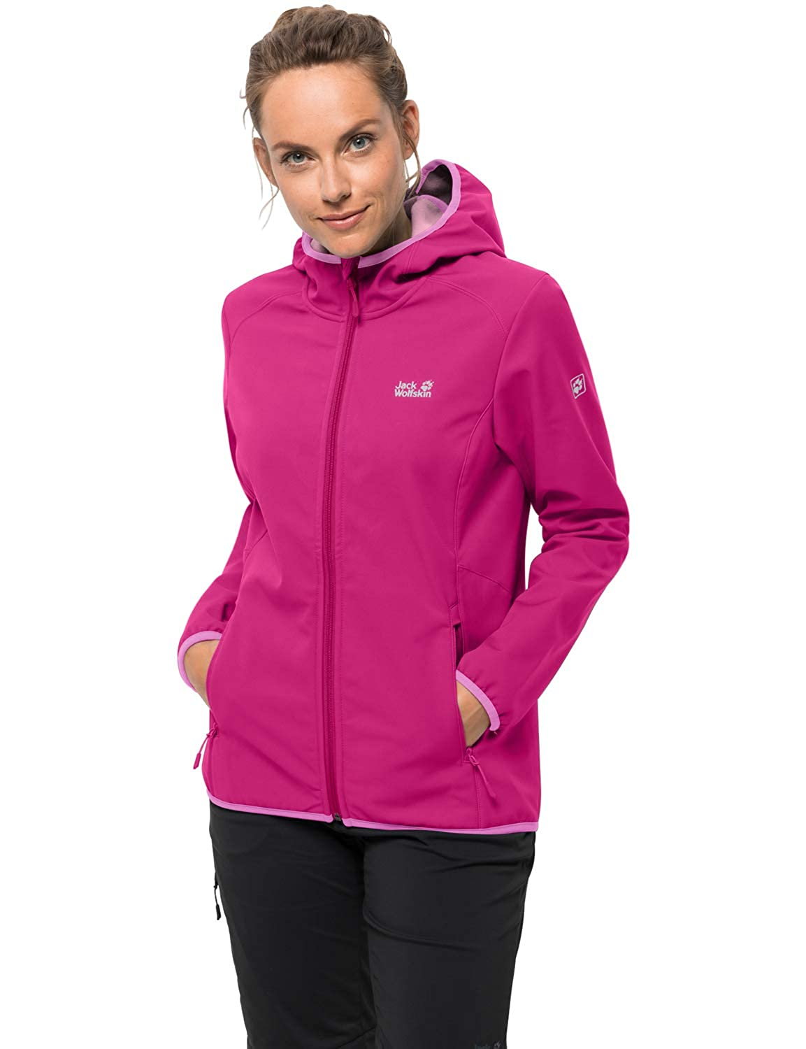 Pink Peony L Jack Wolfskin Northern Point Women's Softshell Jacket