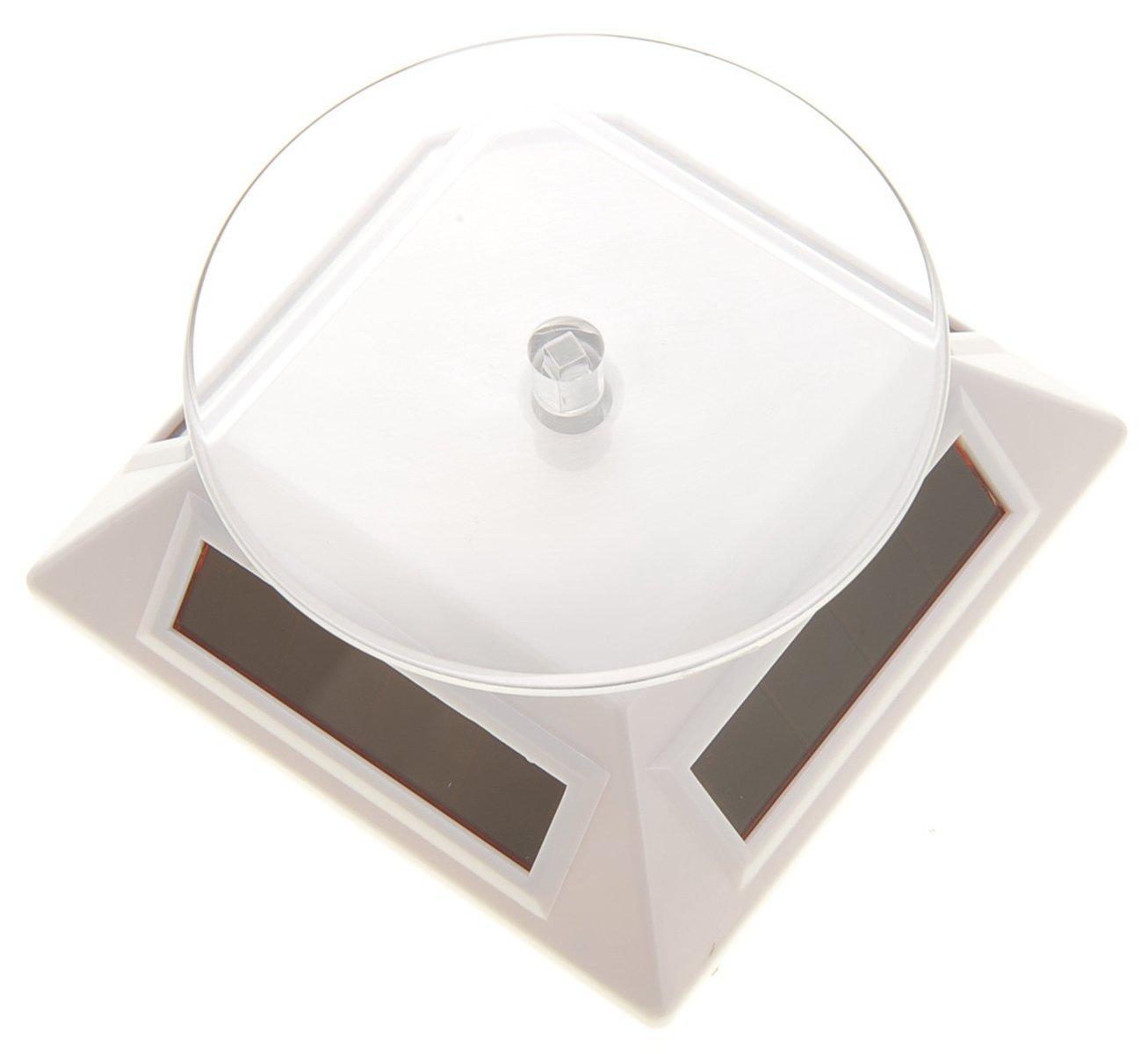 CHIMAERA White Solar Powered Kitchen Display Turntable Stand
