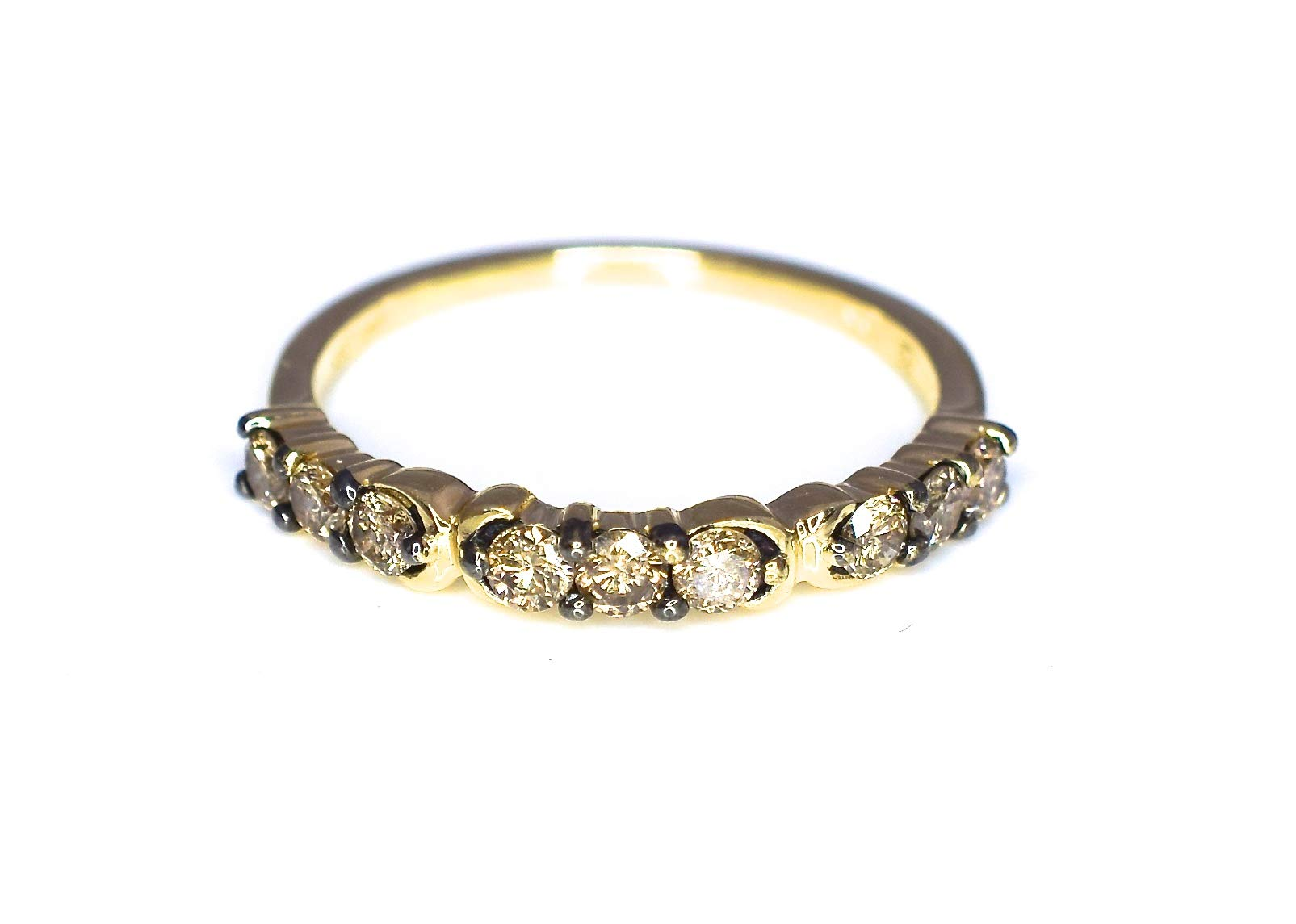 LeVian Ring 1/2 ct Chocolate Diamonds Band 14K Yellow Gold Size 7 by LE VIAN (Image #3)