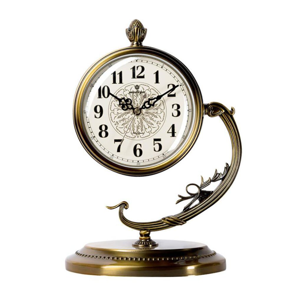 時計の金属の現代的なスタイリッシュなエレガントなサイレントノンティッキング時計、シンプルなクリエイティブウォールクロックリビングルームの寝室オフィスキッチン (色 : 1) B07DMB7DGL 1 1