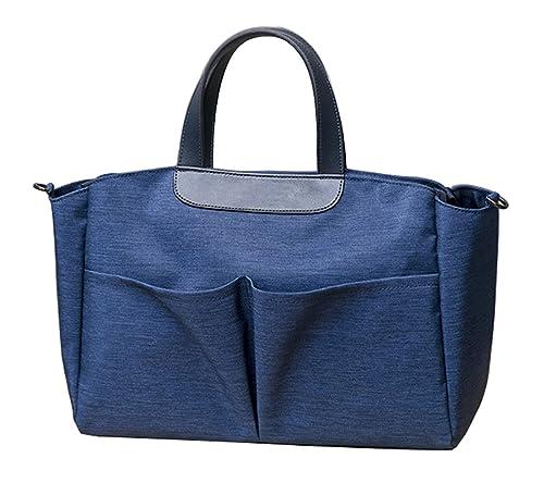 iSuperb Bolsos Mujer Baratos Grandes Carteras de mano y clutches Ropa Oxford Tote Bag (Azul