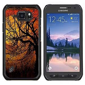Caucho caso de Shell duro de la cubierta de accesorios de protección BY RAYDREAMMM - Samsung Galaxy S6Active Active G890A - Naturaleza Pájaros Primavera Otoño Invierno