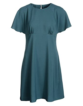 9125b4fbddfb VIVENTY BERND BERGER by Adler Mode Damen Crêpe-Kleid mit Volants -  Blusenkleid, Freizeitkleid
