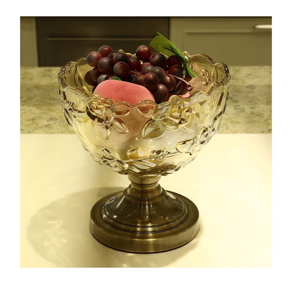 KDJHP ヨーロッパクリエイティブクリスタルフルーツボウル梅の花フルーツバケツクラシックガラスフルーツボウル装飾器具フルーツバスケット -フルーツバスケット   B07PPSL293