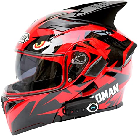 Casco Bluetooth Casco Modular De Moto Antiniebla Doble Visera ...