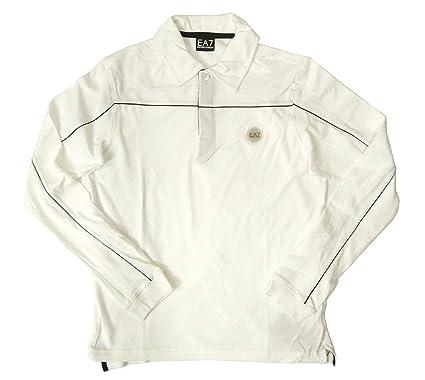 uk availability 0656b 59bd7 Amazon | [アルマーニ] 長袖 ポロシャツ ホワイト ゴルフ M ...