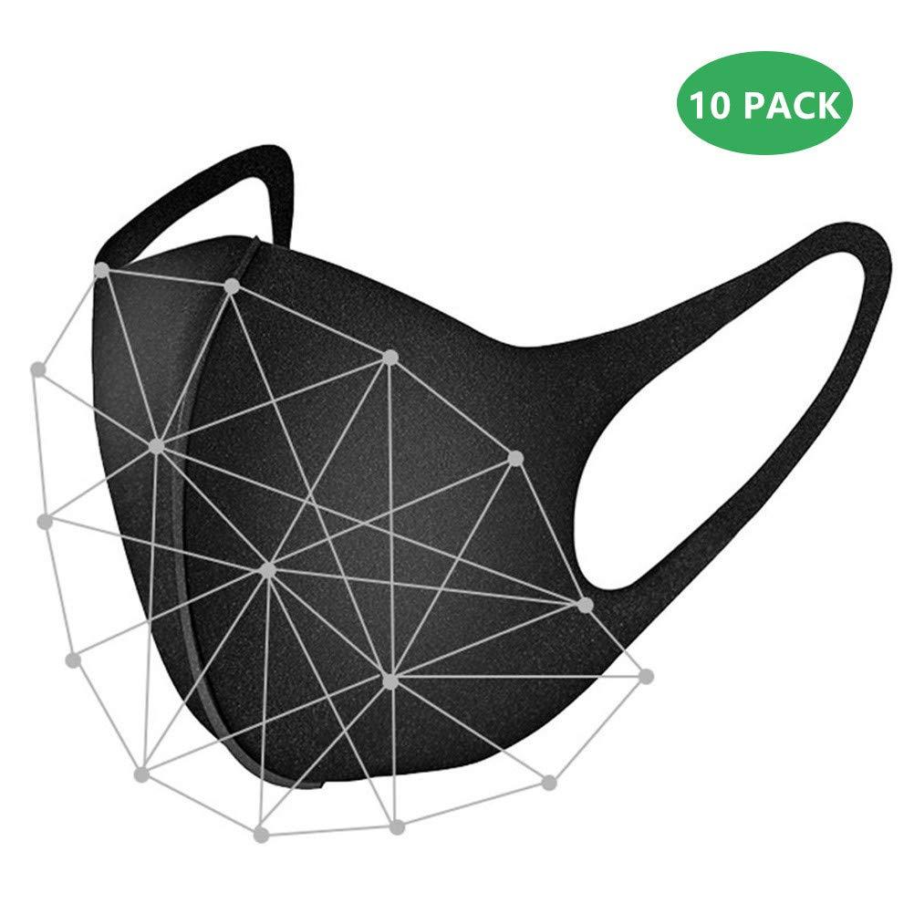 Deeabo 10 Piezas Mascarilla Anti-Smog Mascarilla de Algodón de Aire Reutilizable Cómoda Transpirable Seguridad a Prueba de Polvo Máscaras Anti Bruma Máscara de Másca