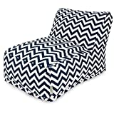 Majestic Home Goods Chevron Bean Bag Chair Lounger, Navy
