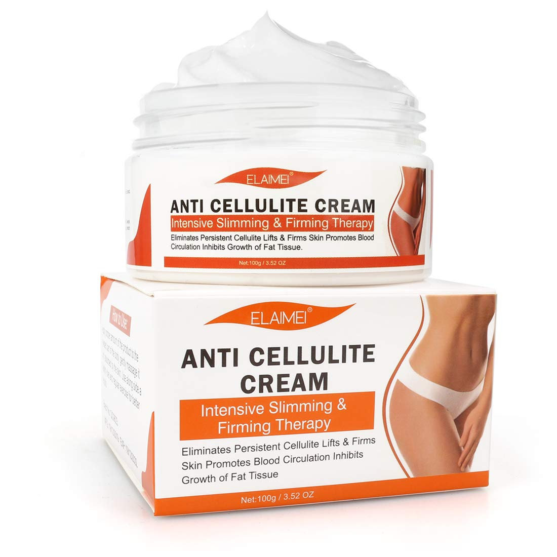 Anti Cellulite Cream, Slimming Cream, Hot Cream, Organic Body Slimming Cream, Natural Cellulite Treatment Cream for Thighs, Legs, Abdomen, Arms and Buttocks - Deep Tissue Massage & Muscle Relaxer