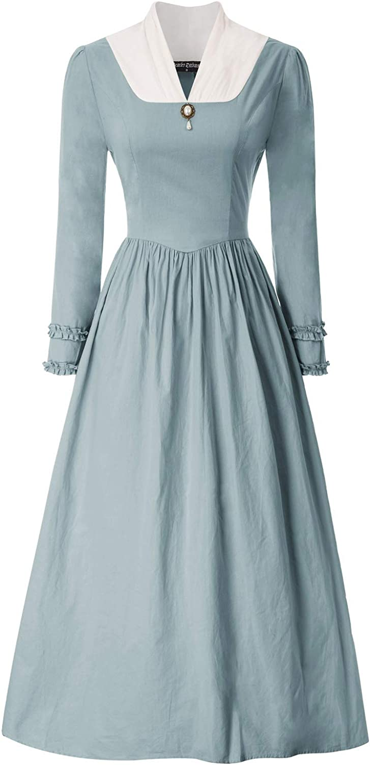 Victorian Costumes: Dresses, Saloon Girls, Southern Belle, Witch SCARLET DARKNESS Womens Pioneer Colonial Costume Vintage Prairie Civil Dresses $29.99 AT vintagedancer.com