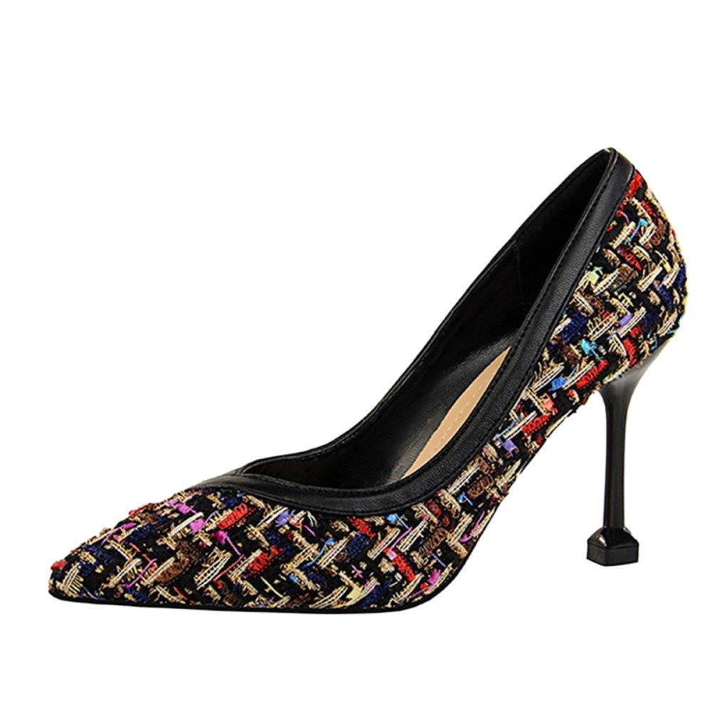 Snfgoij Damen Stiletto High Heel Spitze Zehe Court Schuhe Schuhe Schuhe Arbeiten Schuhe Sexy Nightclubs Dünne Damenschuhe Fein mit Pumps Tipps 896bb9
