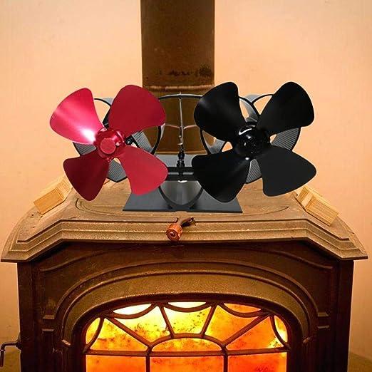hook.s Chimeneas Ventilador de Estufa - Ventilador de Estufa Alimentado por Calor - Motor Doble - Ventilador de 8 Palas para Sala Grande para Chimenea, Estufa de leña/leña: Amazon.es: Hogar